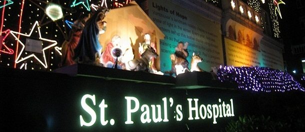 holiday vancouver st. paul's hospital lights of hope