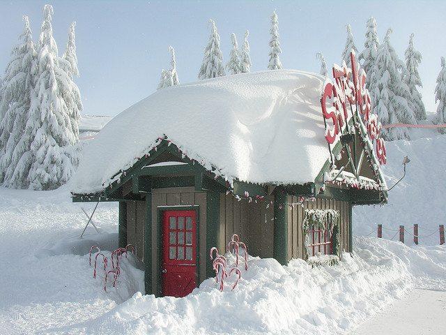 Santa photo Santa's workshop Grouse Mountain Peak of Christmas Best of Vancouver