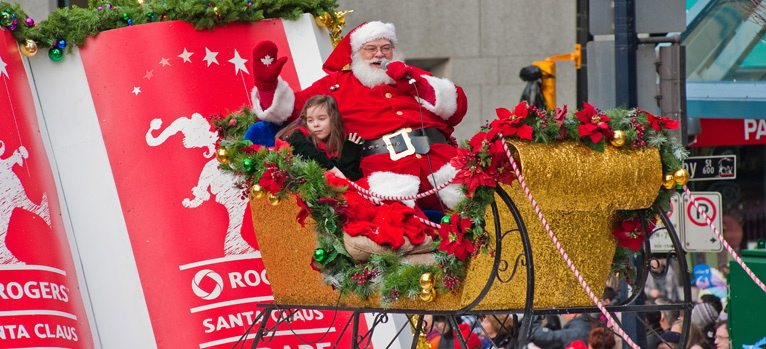 Rogers Santa Claus Parade Christmas downwown Vancouver