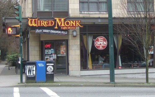 vancouver restaurant the wired monk coffee shop kitsilano