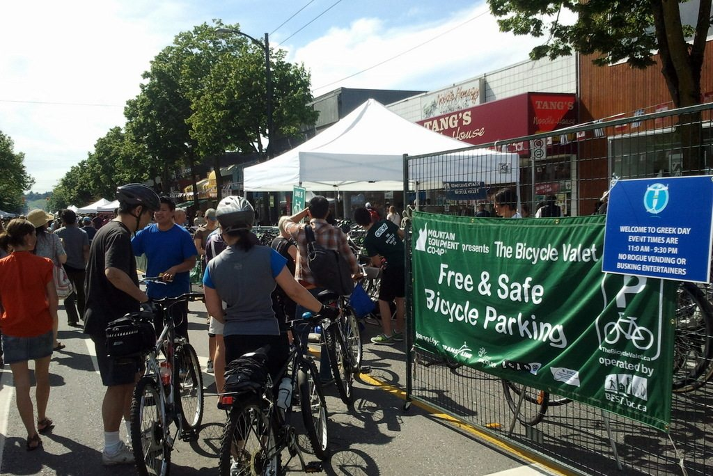 The Bicycle Valet at Greek Day 2012 in Kitsilano