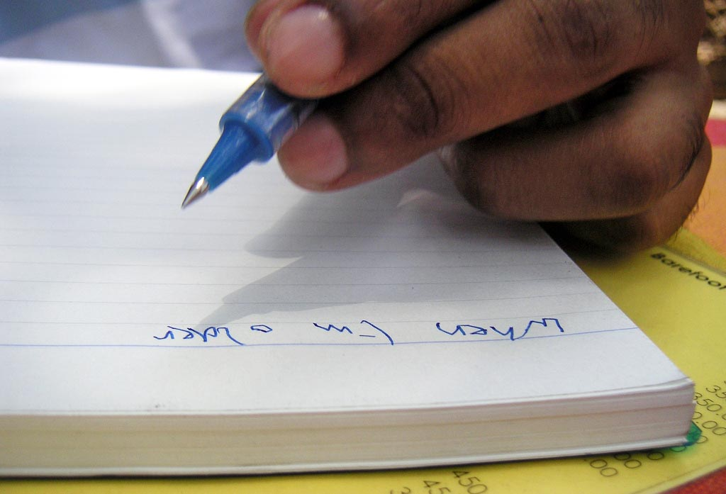 back to school handwriting
