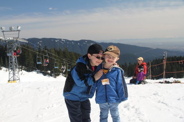 Boys at the Mount Seymour Ski Hill