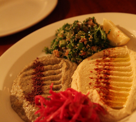 Baba Gannoj and Hummus at Nuba