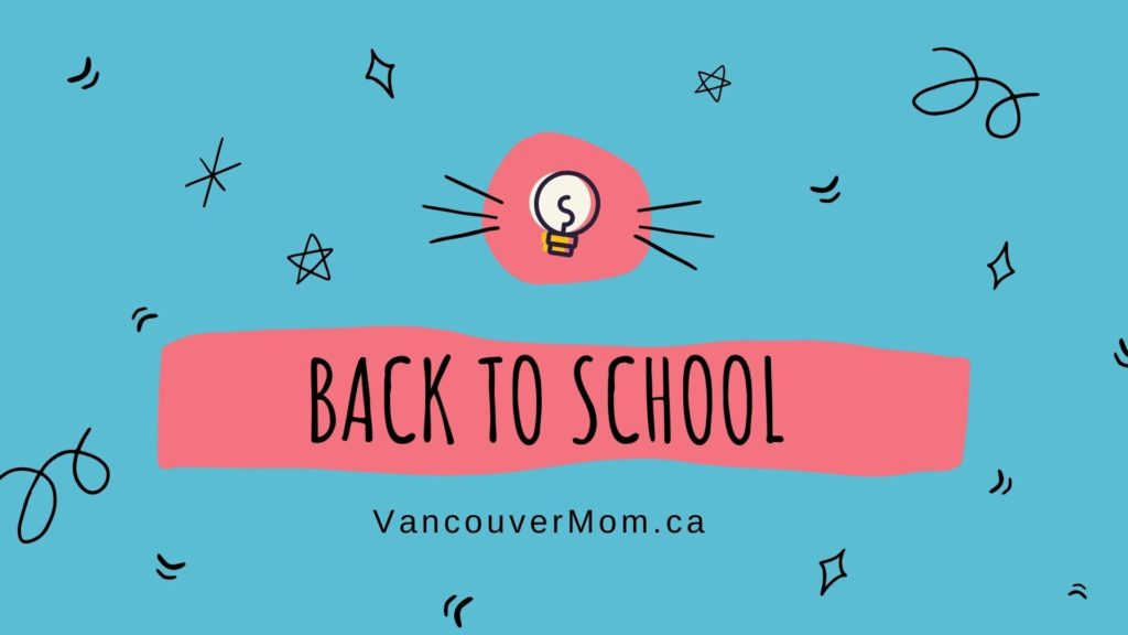 A banner for Back to School activities in Vancouver